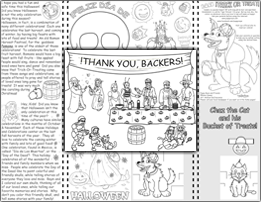 Thumbnail Graphic for the Halloween Coloring Packet
